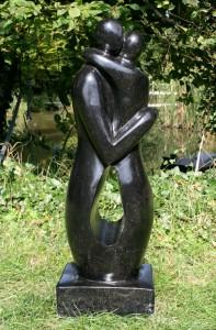 Black terrazzo Kissing Hugging