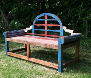 Recycled Baot wood Bench Lutyens