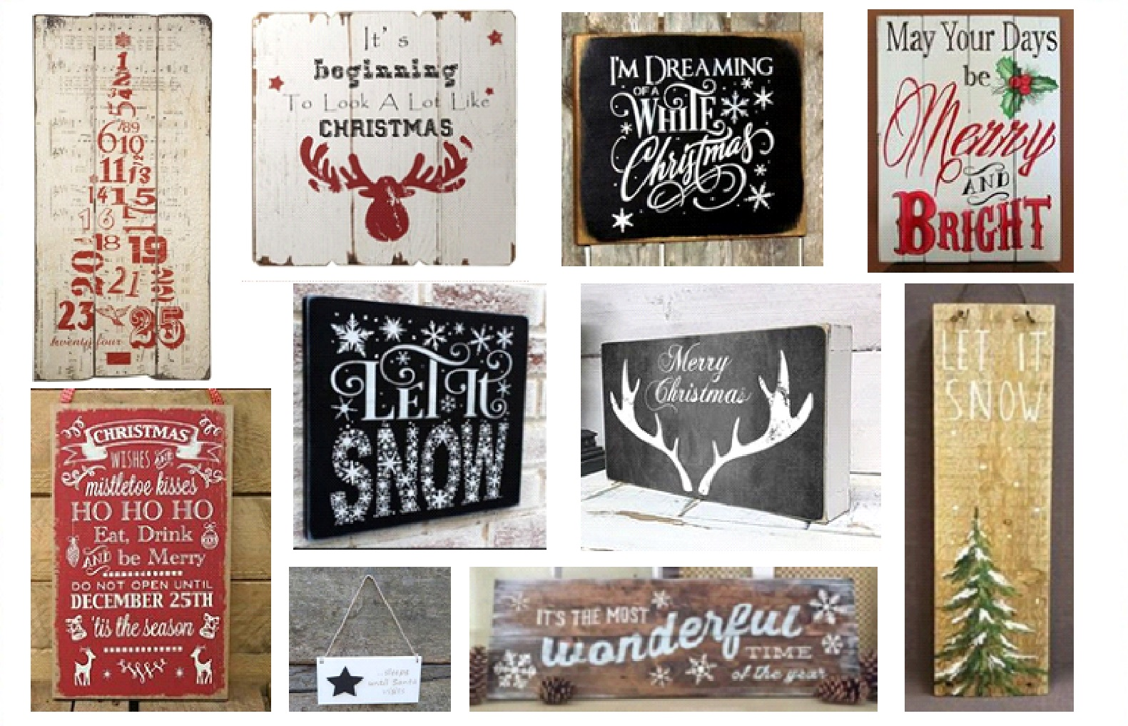 Delightful Wooden Christmas Signs Part - 14: Wooden Christmas Signs