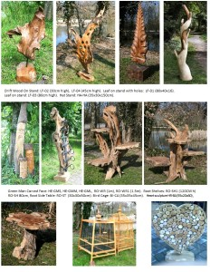 Wood on Stand Decorative Items